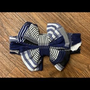 Burberry Blue Messy Bow Headwrap
